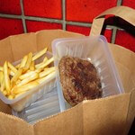 Commandes frites steak pain